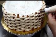 זילוף סלסילה לקישוט עוגה